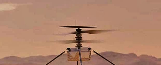 Nasa Helikopteri Mars'ta Uçuruldu