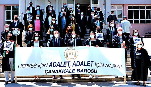"""Çanakkale Barosu'ndan Açıklama """"Avukata Dokunma"""""""