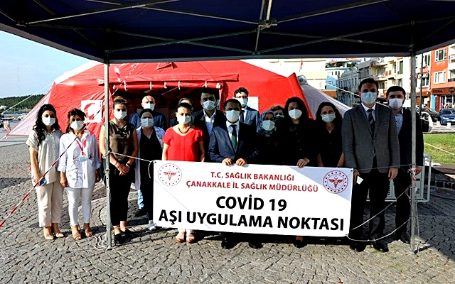 Çanakkale'de Covid-19 Aşı Çadırı Kuruldu