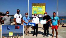 Hamzakoy Plajına 5.Kez Mavi Bayrak