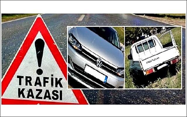 Gelibolu'da Maddi Hasarlı Trafik Kazası