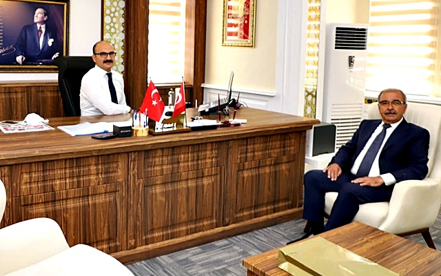 Başkan Özacar'dan Kaymakam Abacı'ya Ziyaret
